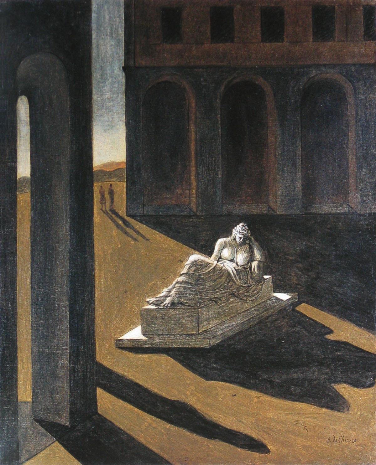Giorgio de Chirico, Memory, 1920olieverf op doek 80,7-65,4cm